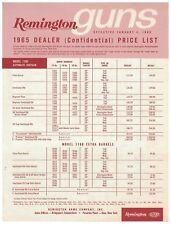 1965 Dealer Price List for Remington Guns