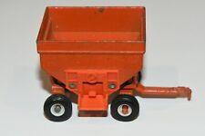 Ertl Orange Metal Gravity Feed Grain Hopper Wagon Farm Equipment 1/64 Vintage
