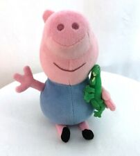 TY Peppa Pig George with alligator 7 in pink beanie plush stuffed animal toy