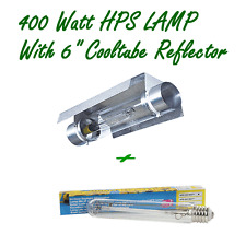"400W HPS HIGH PRESSURE SODIUM HYDROPONIC GROW LAMP AND 6"" COOLTUBE REFLECTOR"