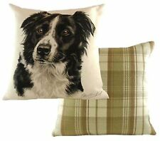 Border Collie Dog Cushion Cover - Waggy Dogz Range Quality Handmade in UK
