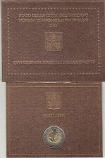 Vaticano 2011 Cartera Oficial Moneda 2 ? euros Conmemorativos Jornada Mundial Ju