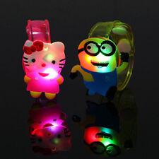 2pcs Adjustable Supplies Flash Light Led Wrist Watch Bracelet Toy Gift for Kids