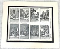 1903 Antique Print French Rococo Chateau Wall Paintings Jean Baptiste Oudry