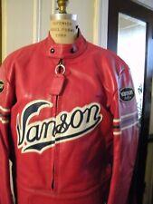 Vintage Vanson Leather Cafe Racer Star Motorcycle Jacket Size 44