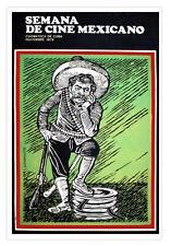 Movie Poster for Semana de cine Mexicano.Mexican Charro.Pancho VILLA.art.Decor.