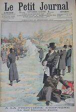 DUEL AU PISTOLET DEROULEDE JAURES  GRAVURE PETIT JOURNAL 1904