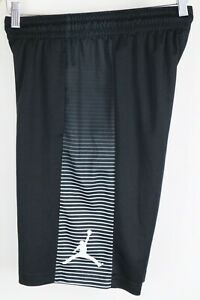 Nike Air Jordan Mens sz Small Black White Game Basketball Shorts 831334