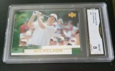 Phil Mickelson 2002 Upper Deck Rookie Card #41 Graded GMA 8 Masters US Open Golf
