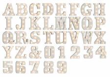 Beleuchtete Holz Buchstaben & Ziffern mit LEDs Zahlen Dekoration Wohnaccessoires