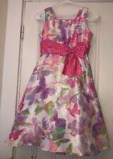 9a9d375090 Jayne Copeland Girls Butterfly Polka Dot Print Party Wedding Dress Sz 10