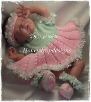 Honeydropdesigns * Irina * Ballerina  * PAPER KNITTING PATTERN * Baby/Reborn
