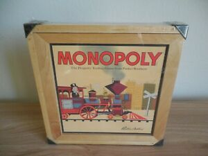 SEALED Monopoly Nostalgia Series Board Game w/ Wood Collectors Box