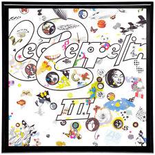 Led Zeppelin III Framed 12' LP Artwork inc. Vinyl Record