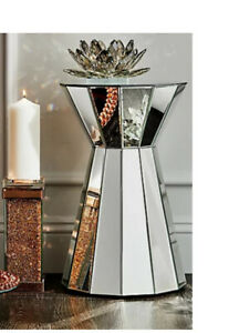 JM by Julien Macdonald For QVC Mirrored Side Table Display Accent Plinth Silver