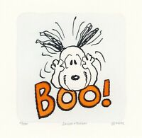 Snoopy Peanuts Artwork Sowa & Reiser #D/500 Hand Painted Etching Boo Face