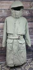 Men's EDDIE BAUER Long Goosedown Gore-Tex Hooded Trench Coat Jacket Sz XL WARM!