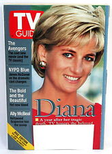 Princess Diana TV Guide Aug. 15-21, 1998 A Year After Death- Collectible - Exc.