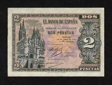 F.C. 2 PESETAS ABRIL 1938 , SERIE D , S/C- , FLOJO DE PICOS .