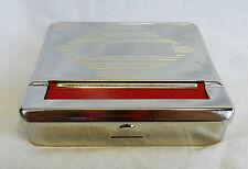Silver Metal Automatic Cigarette Rolling Machine / Tobacco Tin - BNIB