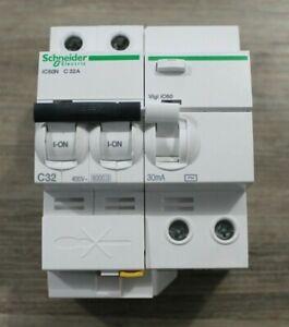 DISJONCTEUR DIFFERENTIEL iC60N 2P C32 32A 30mA-AC SCHNEIDER VIGI ...
