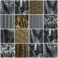 Animal Print 100% Silk Satin Dress Skirt Fabric Pure Printed Tiger Leopard Zebra