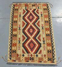 Afghan Hand Knotted Vegetable Dye Kilim Persian Rug - 202x113cm (Ref. 2066)