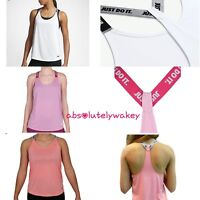 Nike Elastika Women's Vest Top Dri Fit Tank Muscle Back Gym Training JUST DO IT