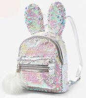 Justice Flip Sequin Bunny Mini Backpack