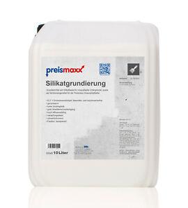 preismaxx Silikat Grundierung 10 L Liter Verdünnung Silikatfarben innen außen