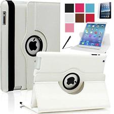 iPad 2 / 3 /4 Schutz Hülle 360° PU-Leder Tasche Case Cover Folie Weiss Folie