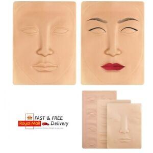 3D Microblading Tattoo Training Praktice Fake Skin Face Lips Eyes SPMU Make Up