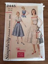 Simplicity 2445 Vintage Uncut Sewing Pattern, Misses' Dress & Jacket, Size 13