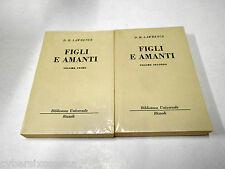 LAWRENCE Figli e amanti bur grigia Rizzoli 2 volumi