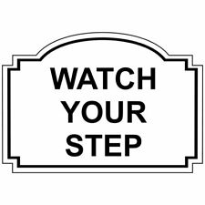 ComplianceSigns Engraved Acrylic Watch Your Step Sign, 5 x 3.5 in. with...