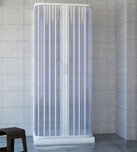 Box doccia cabina 3 tre lati 70x70x70 cm a soffietto riducibile su misura