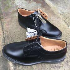 Solovair Black Leather 4 Eye Soft Suspension Sole Shoes Black Size UK 9