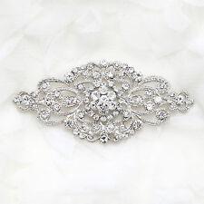 Bridal Vintage Style Rhinestone Brooch Pin Crystal Dress Wedding Hair Jewelry