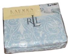 RALPH LAUREN Springhill  Blue Lace Print Cal KING FITTED SHEET NEW COTTON