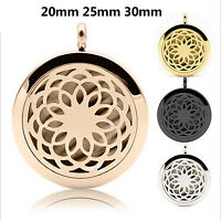 1PC Pendant Necklace Aromatherapy Oil Stainless Steel Perfume Locket Bracelet