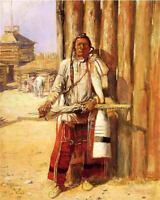 Buffalo Coat by Charles Russell Western Native American Indian Canvas 16x20 🤩