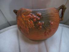 "Vintage Roseville Pottery Double Handled  Bowl, Model 411, 4"" Tall"