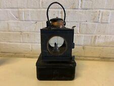 Antique Black Painted Brass Handled Hanging Oil Lantern
