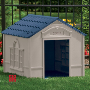 LARGE DOG KENNEL FOR 100 lbs OUTDOOR PET CABIN HOUSE BIG SHELTER 33x38.5x32 in