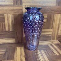 "Hand Blown 11"" Glass Vase Luis Vix"