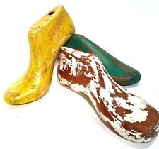 Shoe Forms Vintage Style Worn Paint Cottage Chic Decorative Display