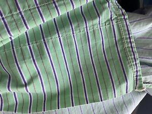 RALPH LAUREN Hampton Beach Club Stripe Green, Purple TWIN FLAT Sheet stripes