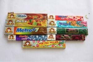 Metro Agarbatti Metro4.Three in One.Cashmera.Woods.Milan.Metro+7.Mix 1 Box 12pcs