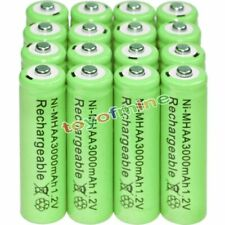 16PCS AA battery batteries Bulk Nickel Hydride Rechargeable NI-MH 3000mAh 1.2V