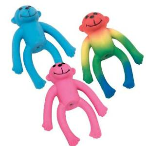 Lil Pals Latex Monkey Dog Toy  Colors Vary (Free Shipping in USA)